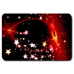 Circle Lines Wave Star Abstract Large Doormat