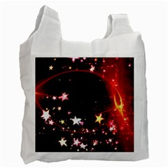 Circle Lines Wave Star Abstract Recycle Bag (one Side)