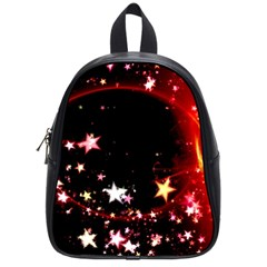 Circle Lines Wave Star Abstract School Bag (small)