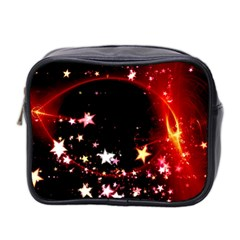 Circle Lines Wave Star Abstract Mini Toiletries Bag 2 Side