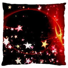 Circle Lines Wave Star Abstract Large Cushion Case (one Side)