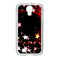 Circle Lines Wave Star Abstract Samsung Galaxy S4 I9500/ I9505 Case (white)