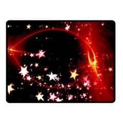 Circle Lines Wave Star Abstract Double Sided Fleece Blanket (small)