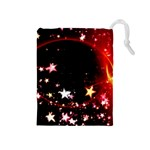 Circle Lines Wave Star Abstract Drawstring Pouches (Medium)  Front