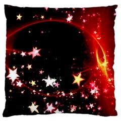 Circle Lines Wave Star Abstract Large Flano Cushion Case (two Sides)