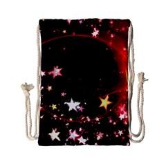 Circle Lines Wave Star Abstract Drawstring Bag (small)