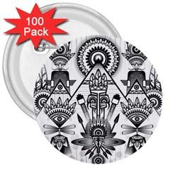 Ancient Parade Ancient Civilization 3  Buttons (100 Pack)
