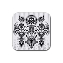Ancient Parade Ancient Civilization Rubber Square Coaster (4 Pack)