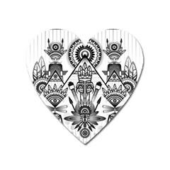 Ancient Parade Ancient Civilization Heart Magnet