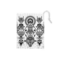 Ancient Parade Ancient Civilization Drawstring Pouches (small)