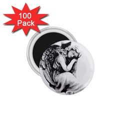 Stippling Drawing Dots Stipple 1 75  Magnets (100 Pack)