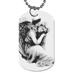 Stippling Drawing Dots Stipple Dog Tag (one Side)