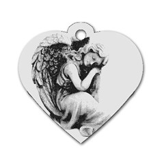 Stippling Drawing Dots Stipple Dog Tag Heart (one Side)
