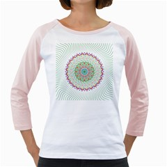 Flower Abstract Floral Girly Raglans