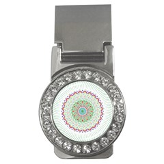 Flower Abstract Floral Money Clips (cz)