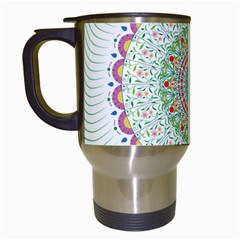 Flower Abstract Floral Travel Mugs (white)