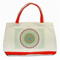 Flower Abstract Floral Classic Tote Bag (red)