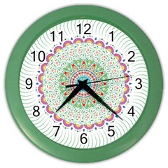 Flower Abstract Floral Color Wall Clocks