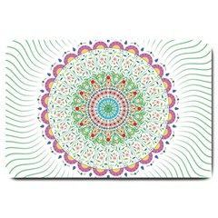 Flower Abstract Floral Large Doormat