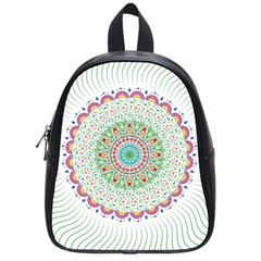 Flower Abstract Floral School Bag (small)