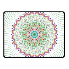 Flower Abstract Floral Fleece Blanket (small)