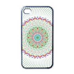 Flower Abstract Floral Apple Iphone 4 Case (black)