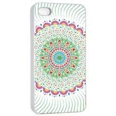Flower Abstract Floral Apple Iphone 4/4s Seamless Case (white)