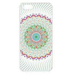 Flower Abstract Floral Apple Iphone 5 Seamless Case (white)