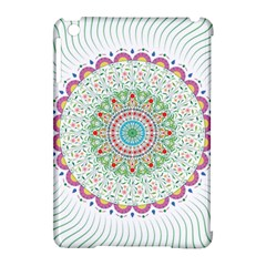 Flower Abstract Floral Apple Ipad Mini Hardshell Case (compatible With Smart Cover)
