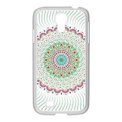 Flower Abstract Floral Samsung Galaxy S4 I9500/ I9505 Case (white)