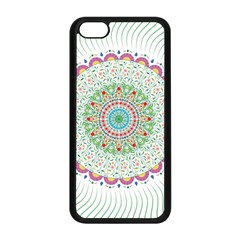 Flower Abstract Floral Apple Iphone 5c Seamless Case (black)