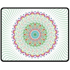 Flower Abstract Floral Double Sided Fleece Blanket (medium)