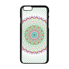 Flower Abstract Floral Apple Iphone 6/6s Black Enamel Case