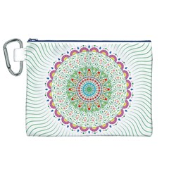 Flower Abstract Floral Canvas Cosmetic Bag (xl)