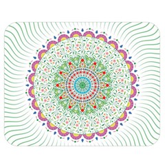 Flower Abstract Floral Double Sided Flano Blanket (medium)