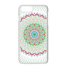 Flower Abstract Floral Apple Iphone 8 Plus Seamless Case (white)