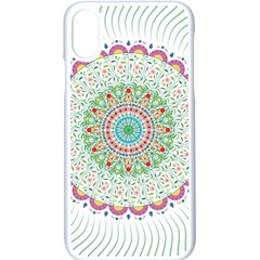Flower Abstract Floral Apple Iphone X Seamless Case (white)