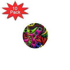 Seamless Texture Pattern Tile 1  Mini Buttons (10 Pack)