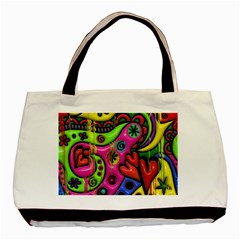 Seamless Texture Pattern Tile Basic Tote Bag (two Sides)