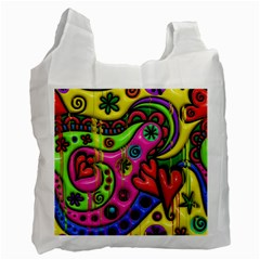 Seamless Texture Pattern Tile Recycle Bag (one Side)