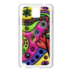 Seamless Texture Pattern Tile Samsung Galaxy Note 3 N9005 Case (white)