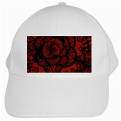 Background Abstract Red Black White Cap