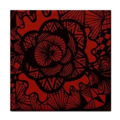 Background Abstract Red Black Tile Coasters
