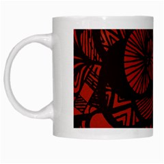 Background Abstract Red Black White Mugs