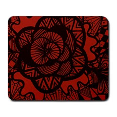 Background Abstract Red Black Large Mousepads