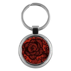 Background Abstract Red Black Key Chains (round)