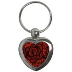 Background Abstract Red Black Key Chains (Heart)  Front