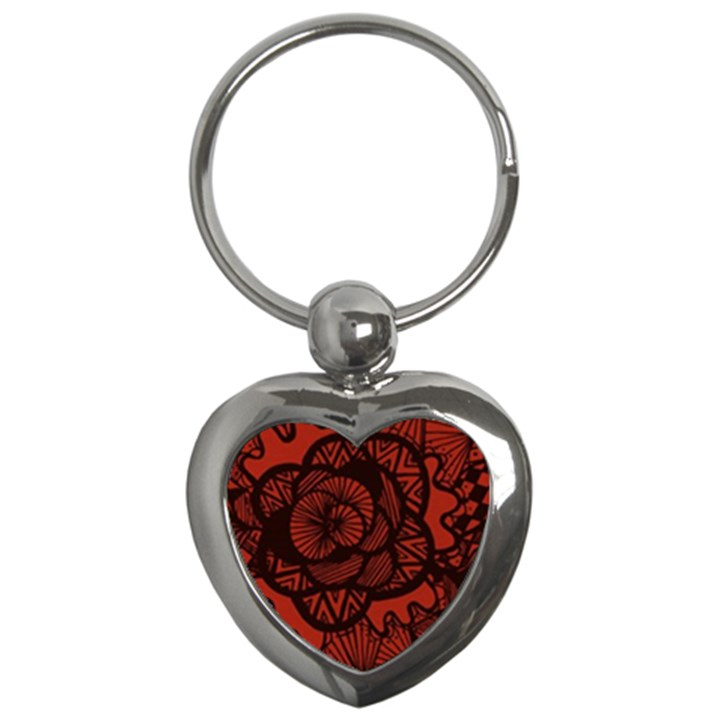 Background Abstract Red Black Key Chains (Heart)