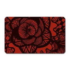 Background Abstract Red Black Magnet (rectangular)