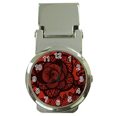Background Abstract Red Black Money Clip Watches